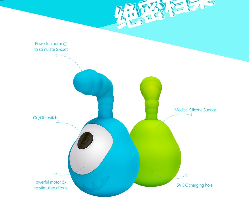 10 speed silicone double motor vibration egg