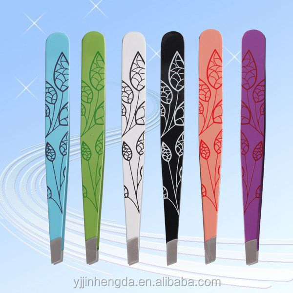 Wholesale Luxury gold eyebrow tweezers