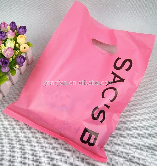 High Quality Die Cut Printing 40 Microns HDPE Plastic Bags