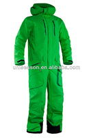 Green snow ski suits for men