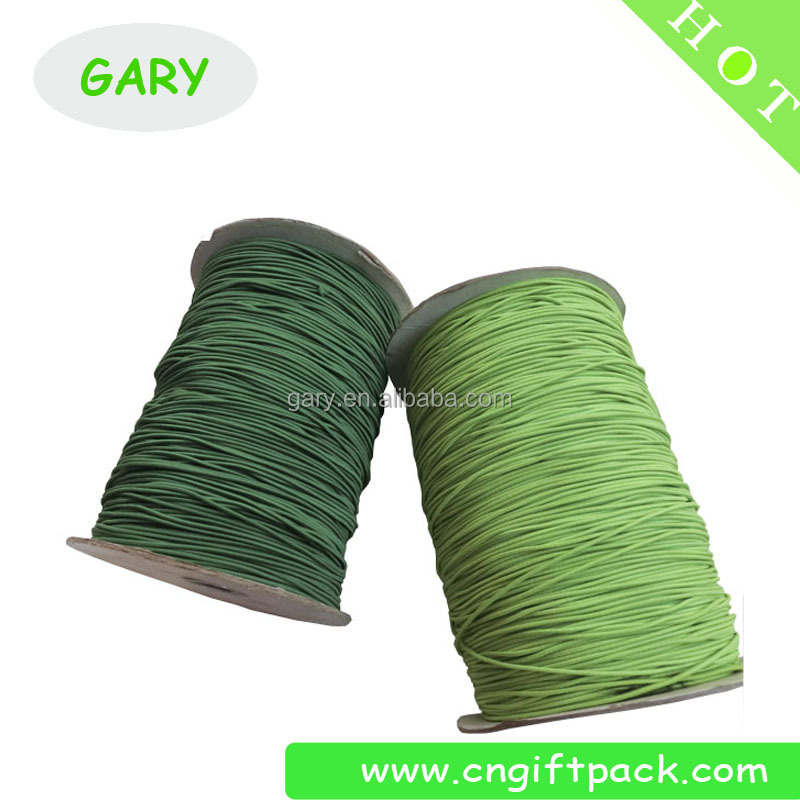 1mm Polyester Yarn Braided Elastic Cord for Face Masks