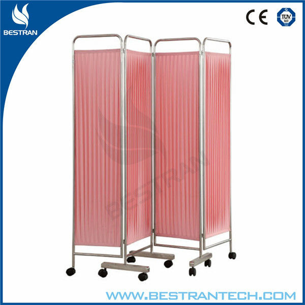 Chinese BT-CP001 4 folding medical ward bed screen bed side screen hospital equipment