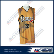 Sublimation free design basketball jersey basketball shorts