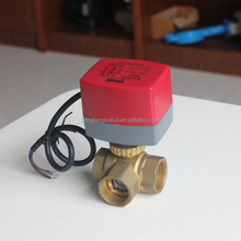Full Flow 3way 2way torque 12Nm electrical zone ball valve large flow OEM