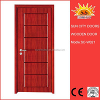 New Design Interior MDF PVC Wood Doors For Bedroom