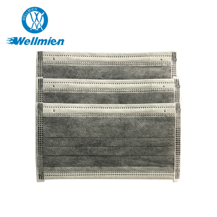 4 ply nonwoven disposable air safety active carbon filter face mask