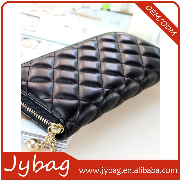 Bottom price good quality china factory ladies long wallets