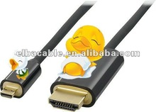 HDMI to micro HDMI cable with ethernet supports 3D 2K*4K for tablet pc camera PS3