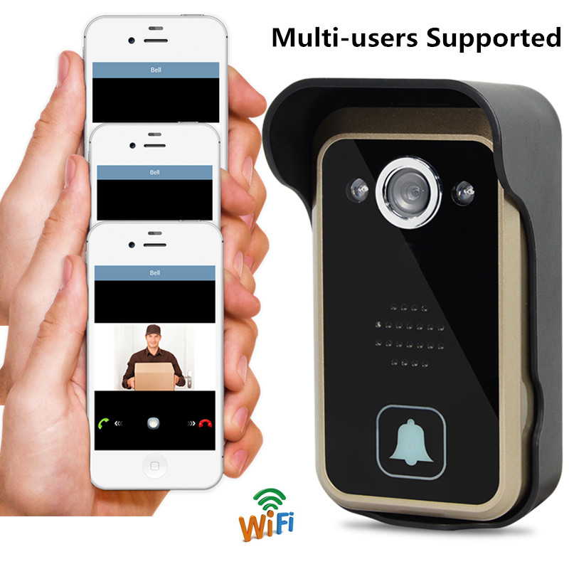 WiFi Video Door Phone/Doorbell/Intercom For iPhone IOS and Android System Mobilephone and Tablet