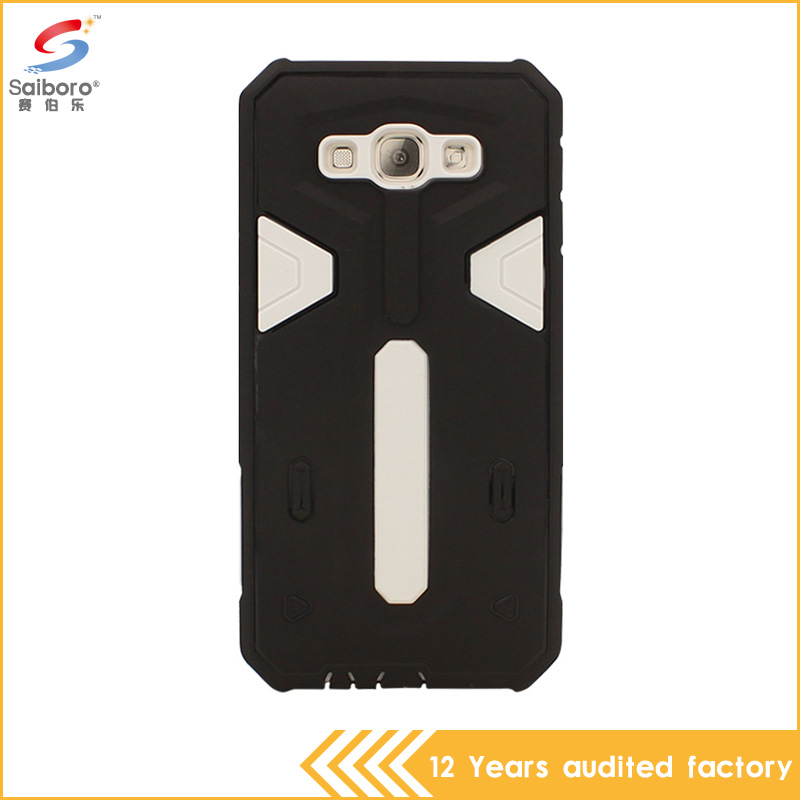 Guangzhou wholesale durable pc tpu armor shockproof phone case for Samsung A8