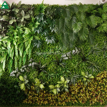 Indoor artificial green wall fabric plastic artifical plants wall for decoration
