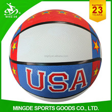 factory colorful standard size weight rubber basketball