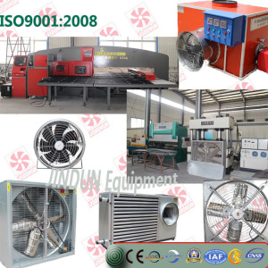 Metal frame stainless steel blades exhaust fan for industry and greenhouse