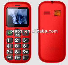CE and Rohs senior citizen mobile phone, large button sos cellular for old people