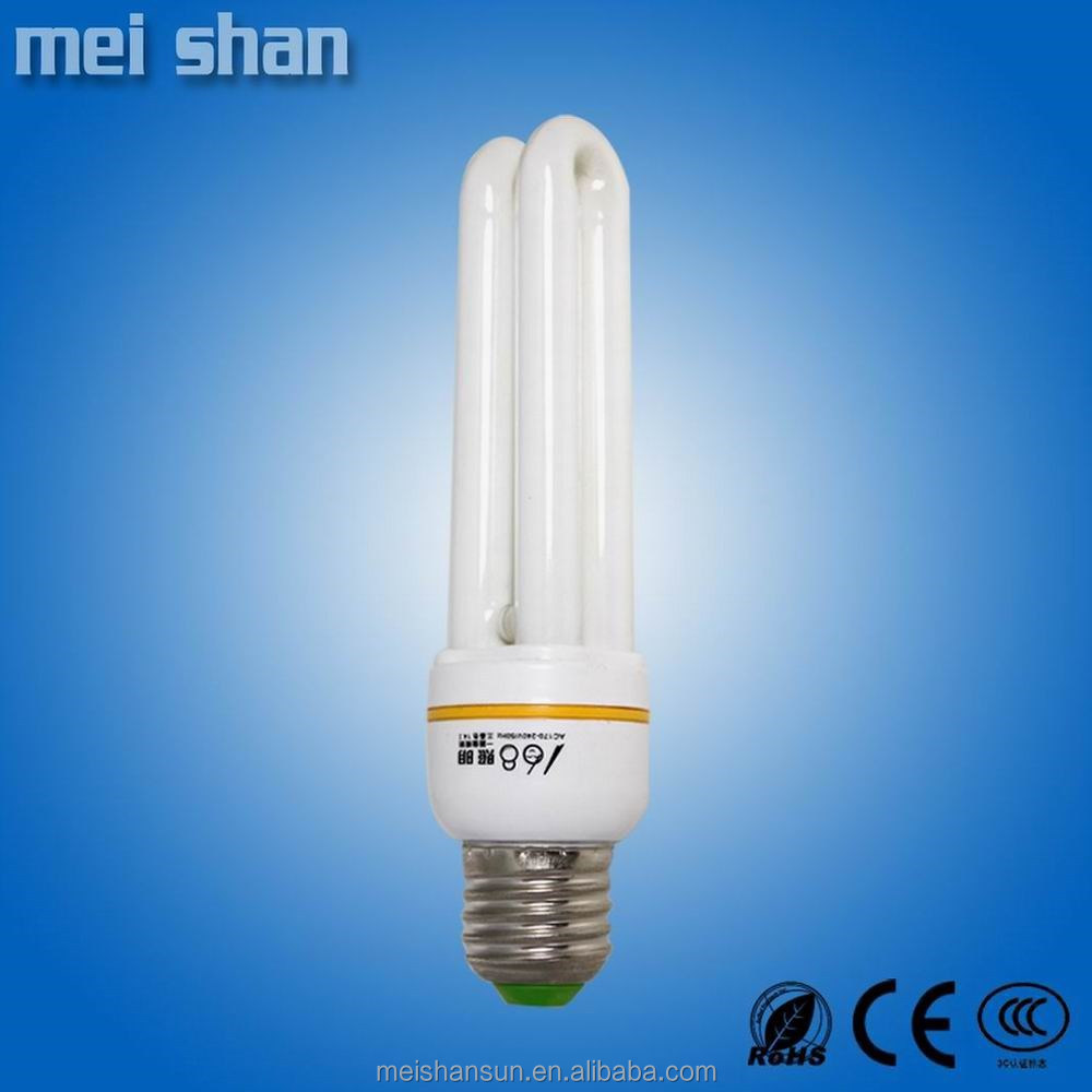 CFL 15W 2u 9mm diameter tube good quality energy saving bulbs made in china