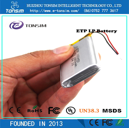 Chinese Cheap Battery High Rate Customized 103450 3.7v Lithuim Battery 1800mAh For Power Bank