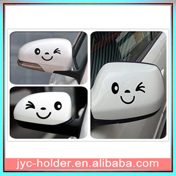 Smile Face 3D Decal Sticker for Car Side Mirror