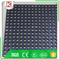 SGS REACH CE ISO Approved top value gym bar rubber mat manufacture