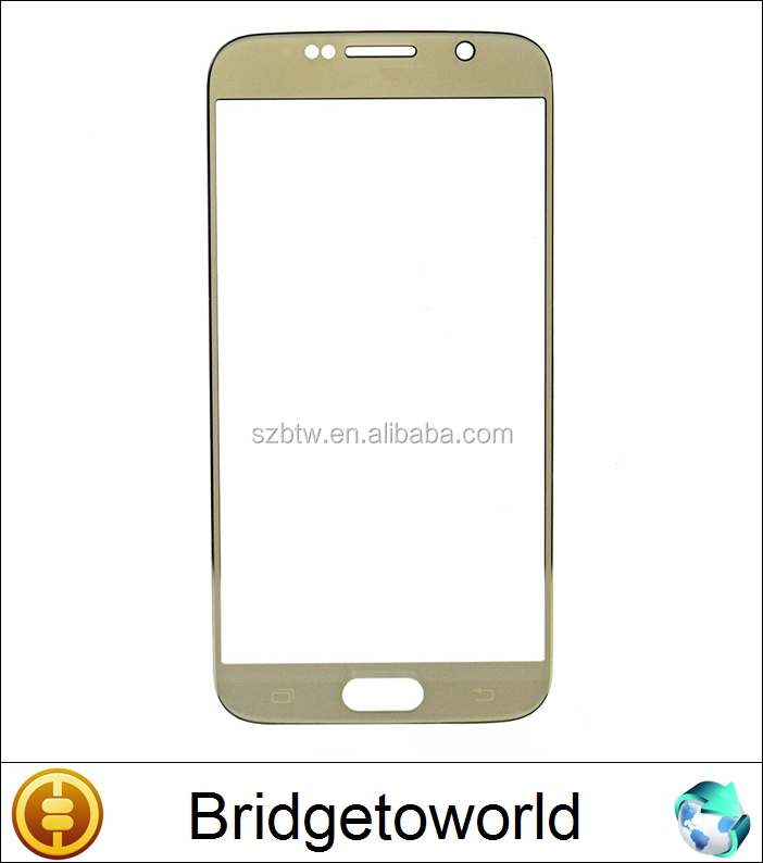 Brand New Gold /Blue/Black Front Glass Screen For Samsung S6 Replacement Outer Glass Lens For Samsung S6