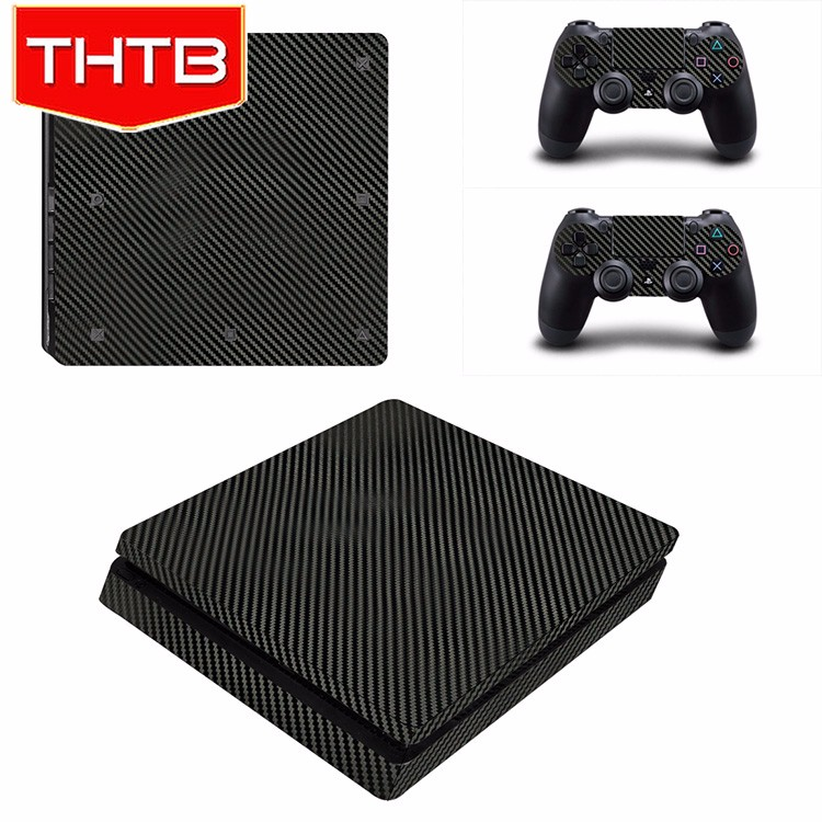 Custom carbon fiber vinyl skin sticker for ps4 playstion 4 slim decal