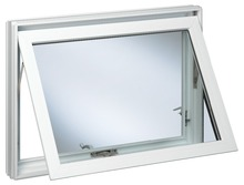 Hotsale frosted glass awning aluminum window