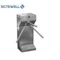 Dry contact & relay signal vertical tripod turnstile gate with rfid control