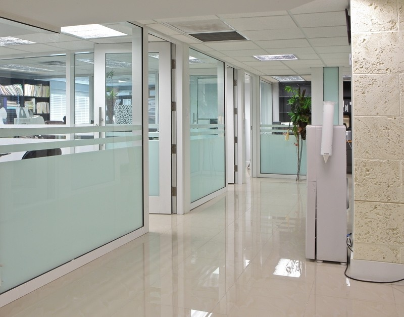 Office movable partition wall sliding folding partition for Sliding folding partitions movable walls