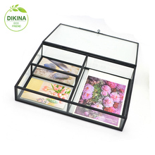 Lid Vintage Girls Room Purple & Yellow Wedding Card Holder box // Metal Tool Box File Case storage box with lid