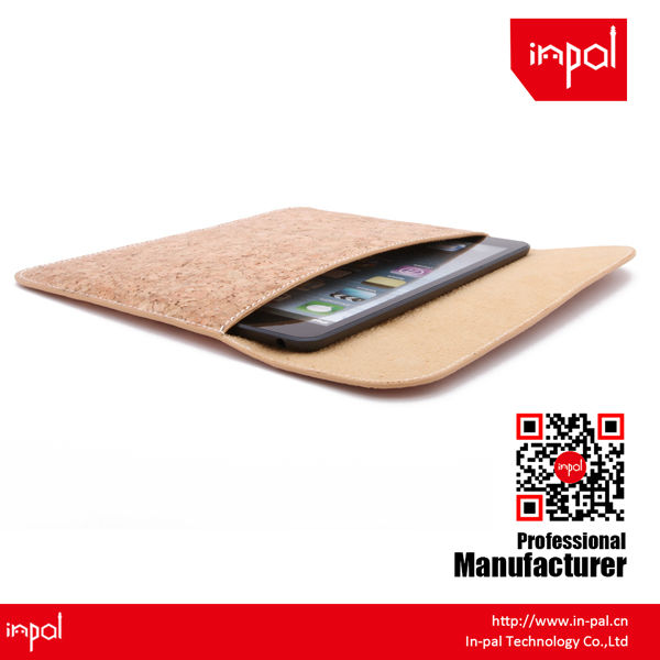 for young fashion cool magnetic envelope clutch cork cover case for ipad mini