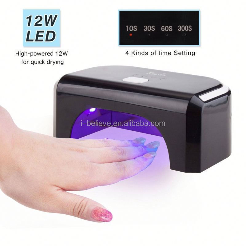Hot Sale 12w LED Nail UV Lam with 395nm led bulbs uv gel lamp salon