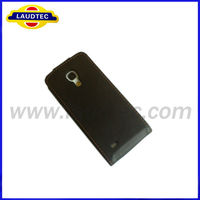 Leather Back Cover Case for Samsung Galaxy S4 mini, Flip Cover Holster