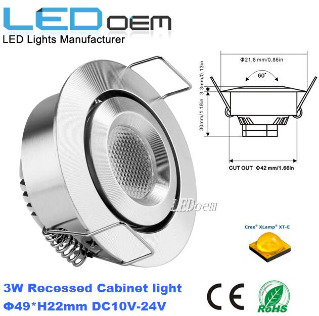 3W adjustable ceiling light 12v led downlight