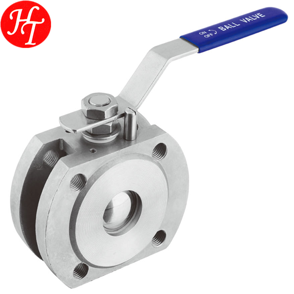 Full dimensions 1PC wafer stainless steel flanged ball valves price list