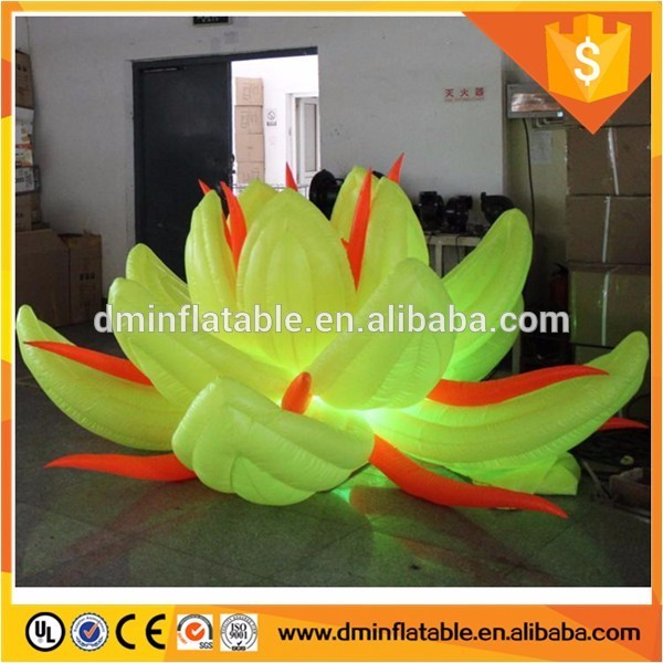 Lotus open wedding ceremony decorations inflatable flower