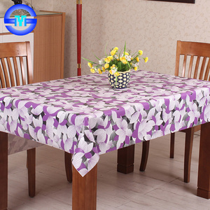 Eco-Friendly Kids Plastic Table Cover / Disposable Colorful PE Table Cloth