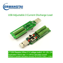 Battery Capacity Voltage Dscharge USB Resistance Tester With Switch Adjustable 3 Current