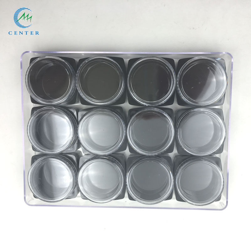 3g Nail Plastic Square Cream Jar Cosmetic jar for Eye Cream