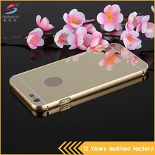 china guangzhou manufacturer slim armor metal and tpu mobile phone hybrid cases for iPhone6