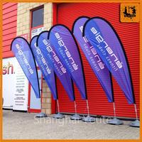 outdoor advertising fire retardant banners small beach flag high quality teardrop flag
