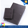 Unique and fashional style black leather bound custom printed custom printed notebooknotebook insidepage with gold spray