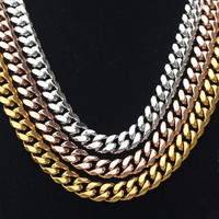 Miss Jewelry Wholesale 18k Rose Gold Jewelry Necklace Chain