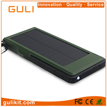 Best price 10000mAh outdoor use 3-proofs Solar Power Bank with QC3.0 quick charge