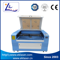 Yk-1410 co2 laser leather splitting /crystal cutting machine for sale