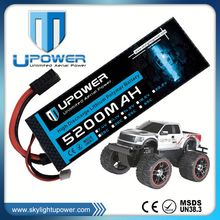 Upower 7.2v 5200mah rechargeable battery rc car cell li-po battery for RC car RC Truck