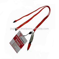 Ball point pen lanyard with PVC badge holder
