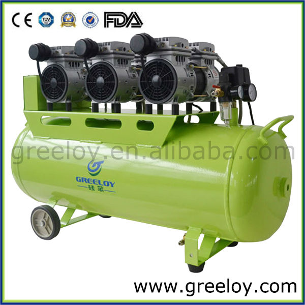 Dental Consumable? Latest Design 110-240V Clear Air Supply Electric Piston Silent Dental Oil Free Air Compressor