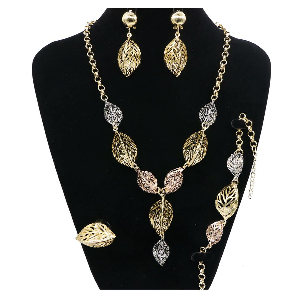 Newest Golden Necklace Jewelry Sets Gold Plated Africa Style for wedding/party