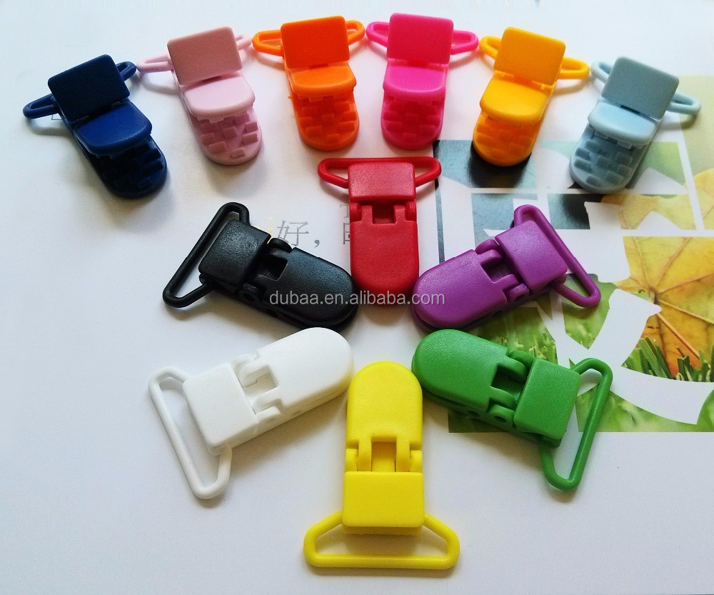 20/25mm Plastic Dummy Pacifier Clip Plastic Pacifier/Soother/Binky/Paci/Bib/Suspender/Toy Holder Clip