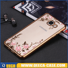Luxury electroplate TPU phone case for samsung galaxy a5 2016 bling bling back cover