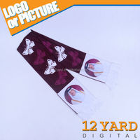Qatar best-selling logo religious figures printed polyester scarf